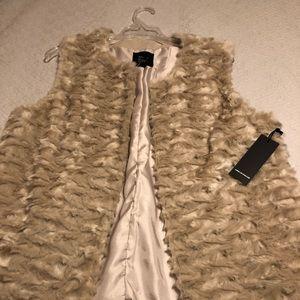 Forever 21 taupe fur vest